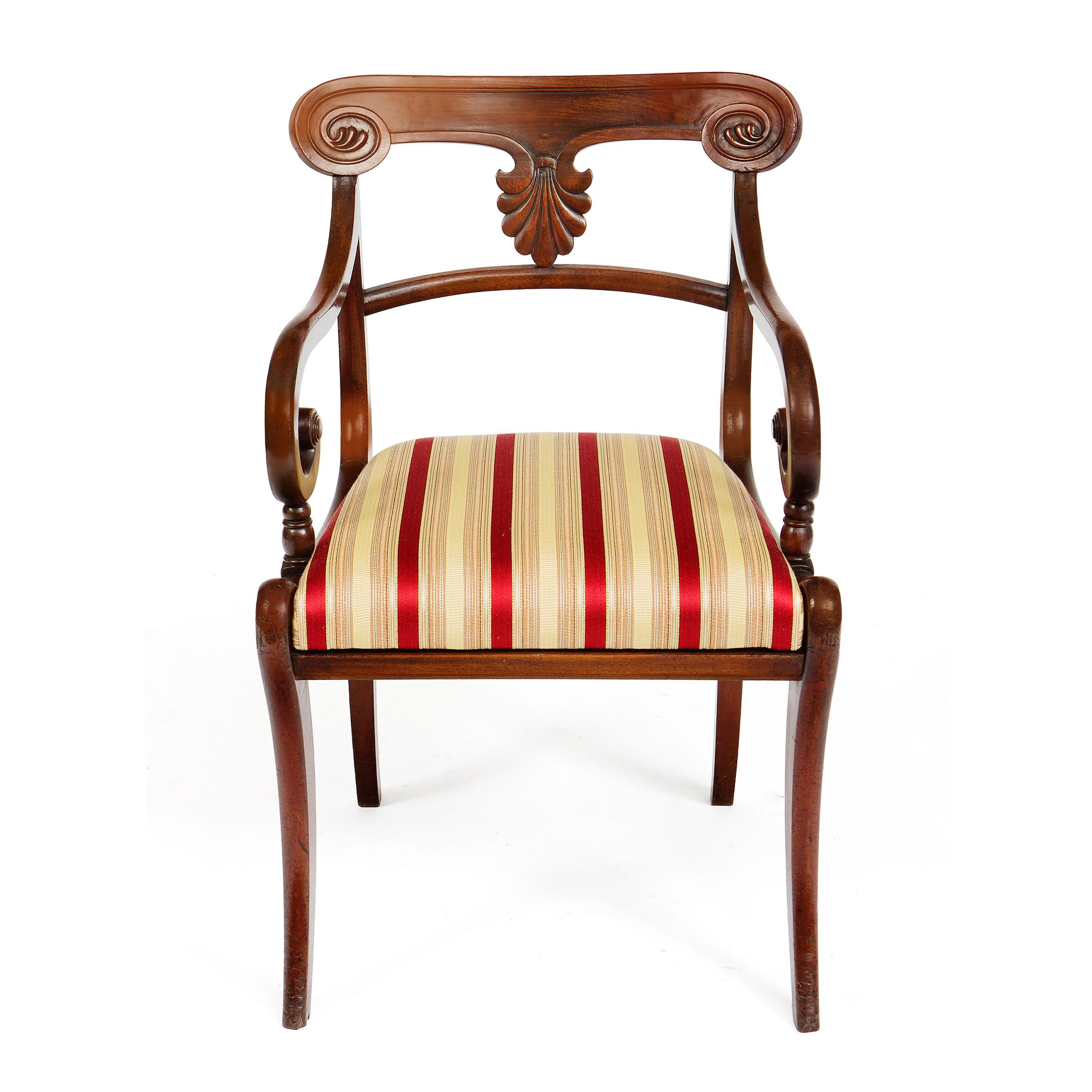 2608 Set Of Twenty Early 19th Century Regency Mahogany Dining Chairs O 3
