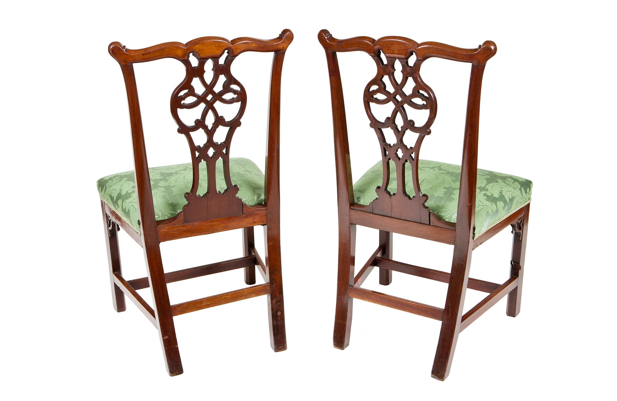 2716 Pair Of 18th Century Irish Side Chairs O 39 Sullivan Antiques NYC