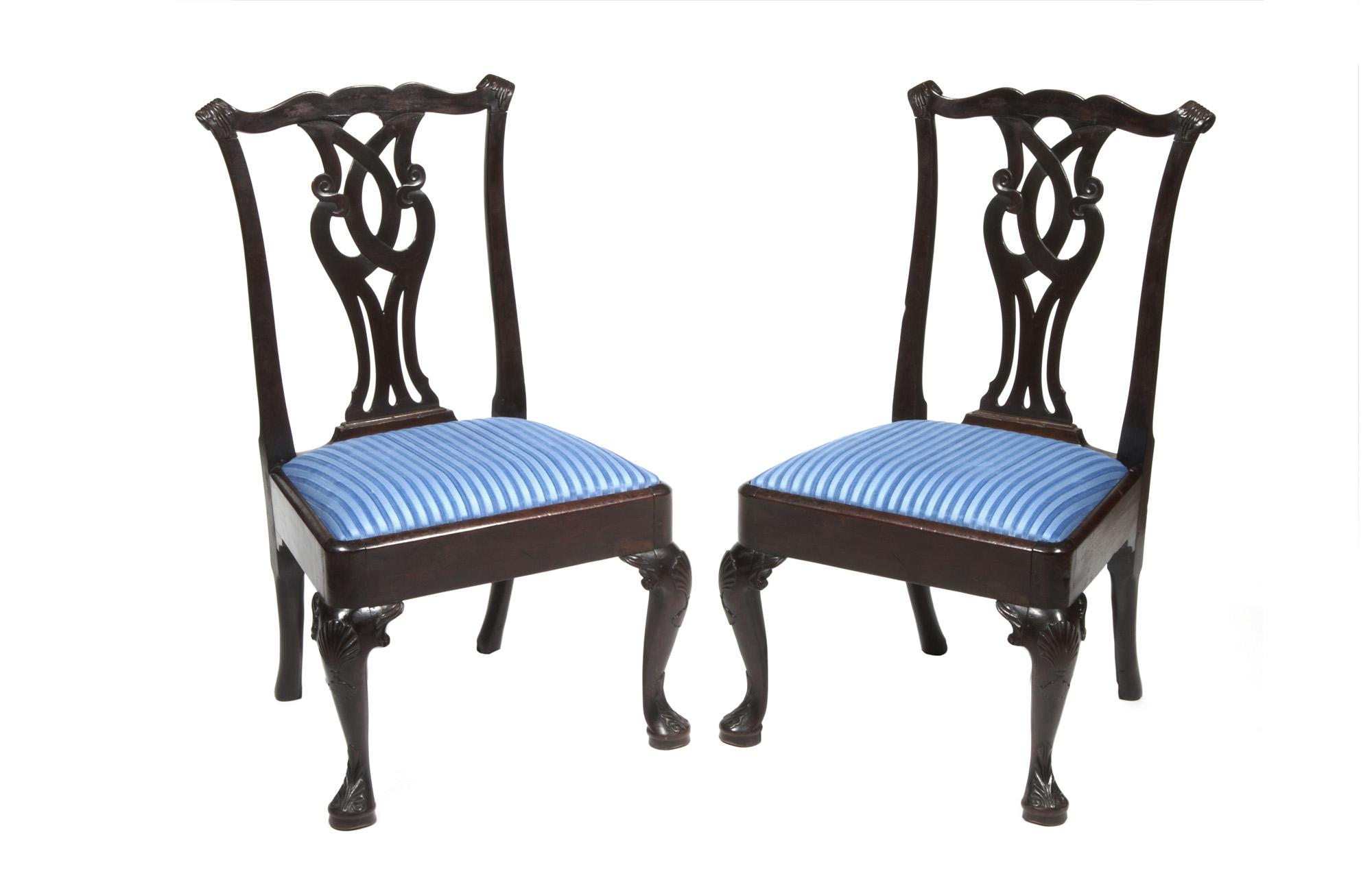2775 Pair Of 18th Century Irish Side Chairs O 39 Sullivan Antiques NYC