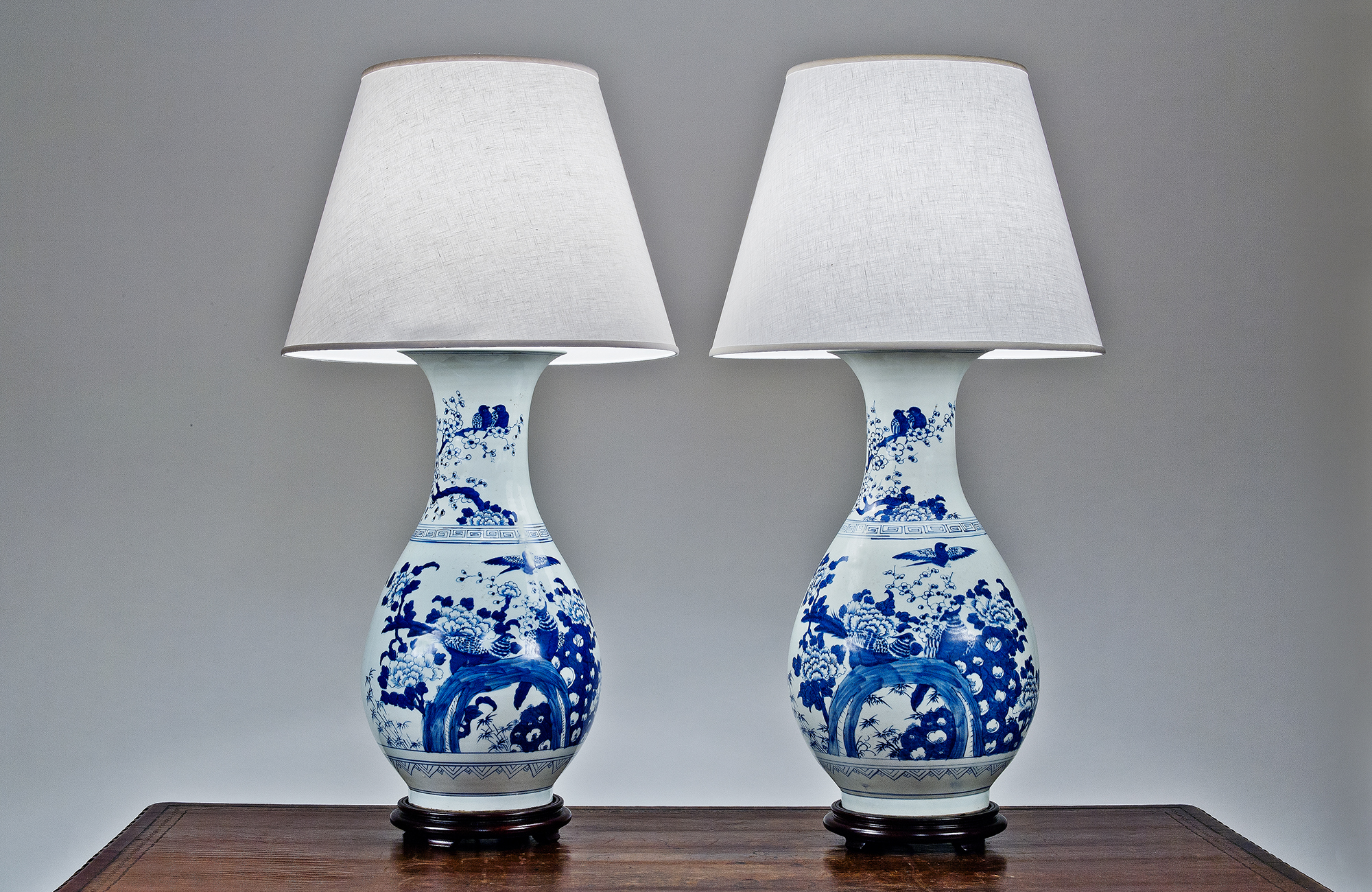 2828 pair of unusual blue and white chinese porcelain. Black Bedroom Furniture Sets. Home Design Ideas