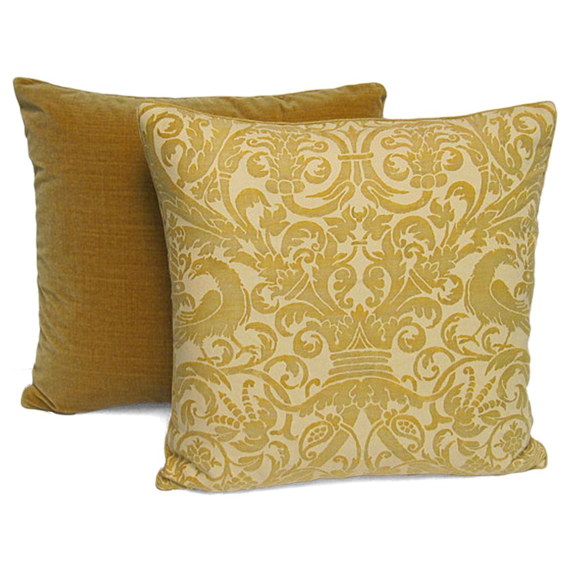 Satin Pillowcase Dublin: Pair Of Handmade Yellow Cotton And Velvet Pillows