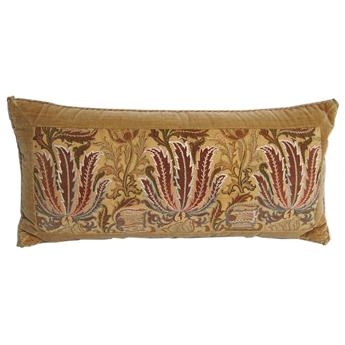 Satin Pillowcase Dublin: Handmade Yellow Velvet Pillow With 19th Century