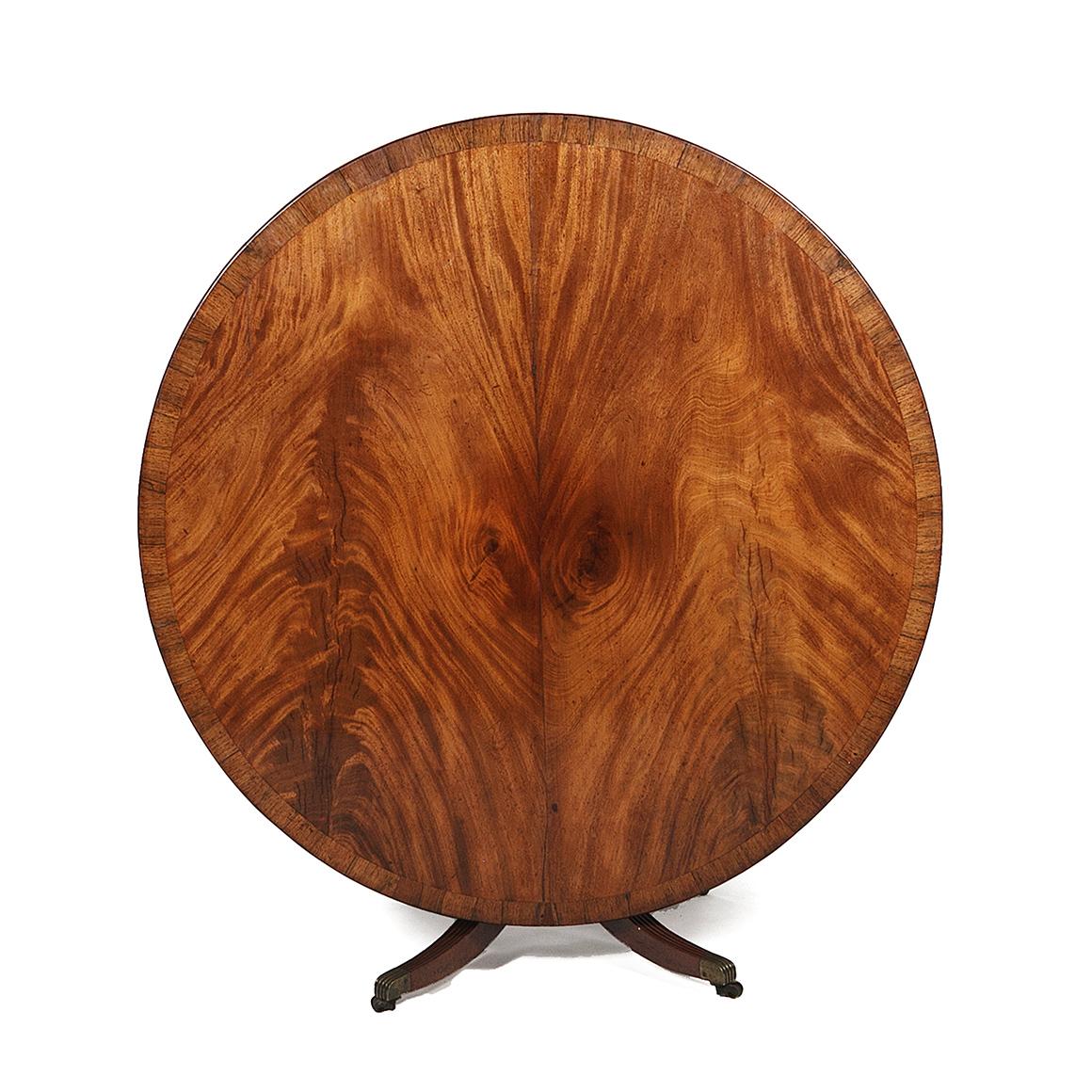 3021 Circular Regency Mahogany Pedestal Dining Table O