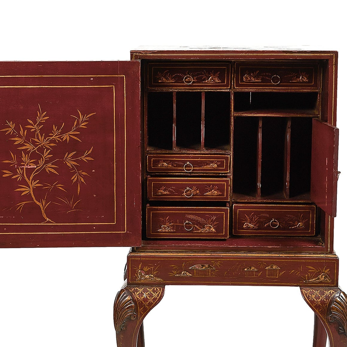 Home/Furniture/Bookcases and Cabinets - 3041 - 19th Century Chinoiserie Cabinet On Stand, With Fitted
