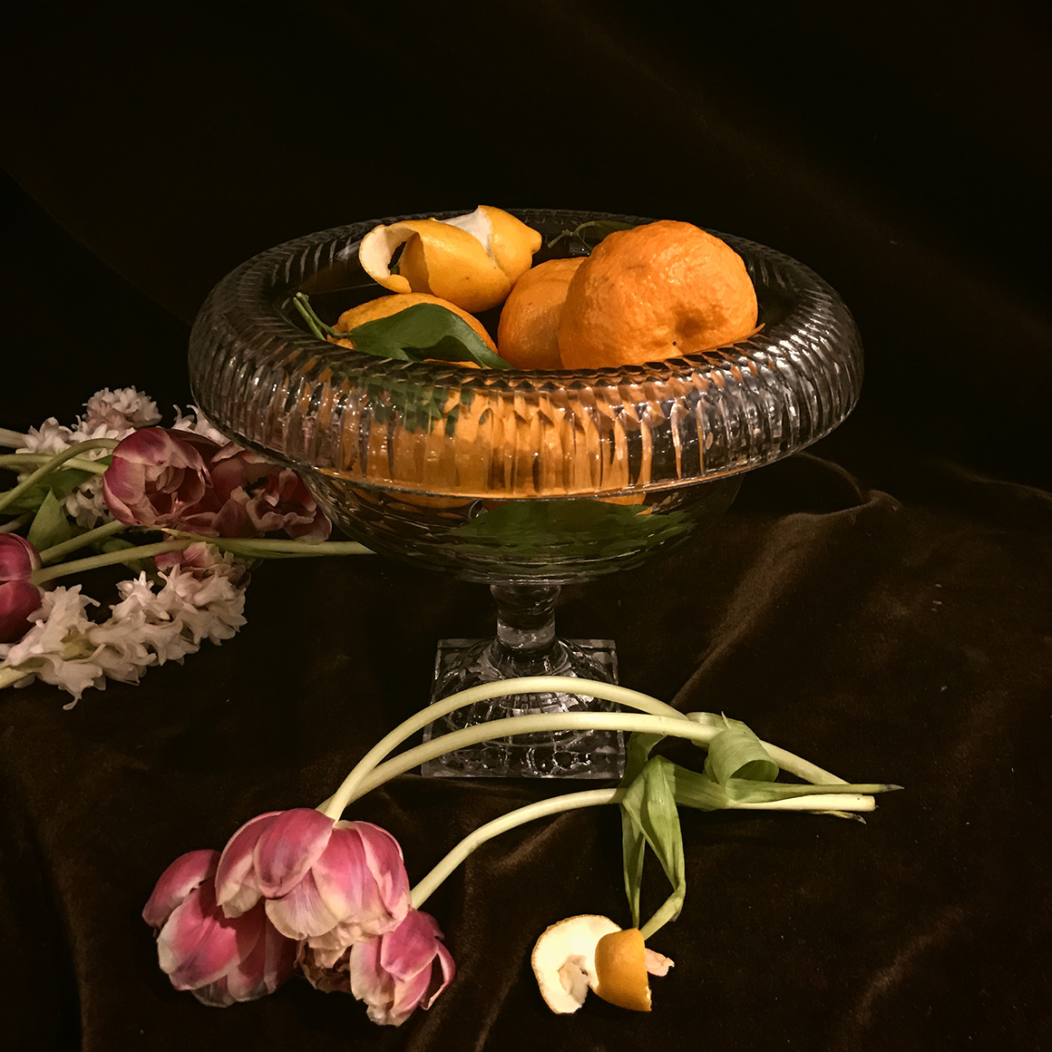 Still life with cut-glass bowl