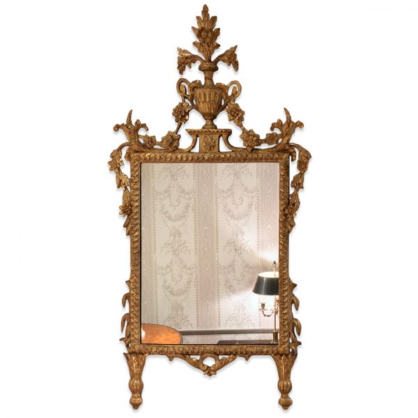 18th Century Italian Piedmont Gilt Neoclassical Mirror