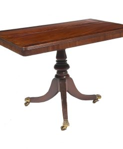 Early 19th Century Irish Regency Pedestal Library Table