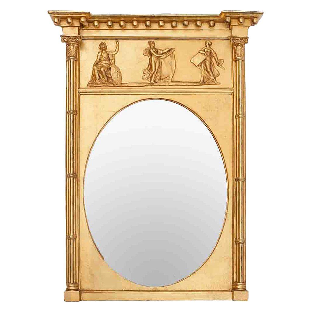 19th Century English Regency Gilt Neoclassical Mirror