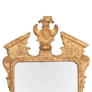 18th Century Irish Georgian Gilt Broken Pediment Mirror