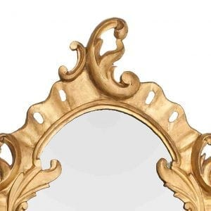 19th Century Irish Gilt Oval Mirror with C-Scrolls and Acanthus Leaves