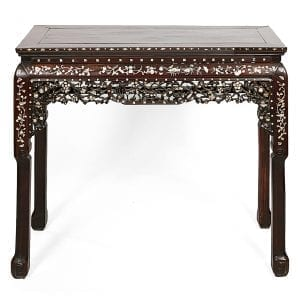 19th Century Chinese Huanghuali and Mother of Pearl Inlaid Altar Table