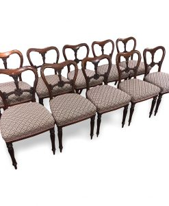 Set of Ten Irish William IV Dining Chairs by William & Gibton
