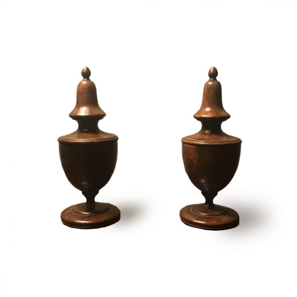 Pair of Early 19th Century English Turned Treen Boxes