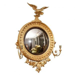 Regency Giltwood Convex Mirror