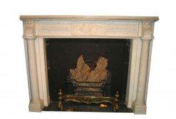 19th Century William IV Statuary Marble Fireplace