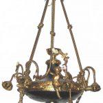 19th Century Regency Pressed Brass Chandelier