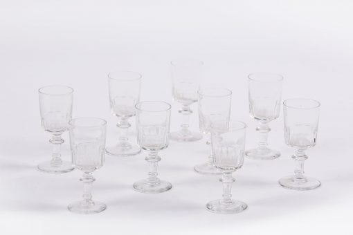 6054 - 19th Century Set of Nine Sherry/Liqueur Glasses