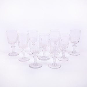 19th Century Set of Nine Sherry/Liqueur Glasses