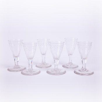 Early 20th Century Set of Lalique Gasses