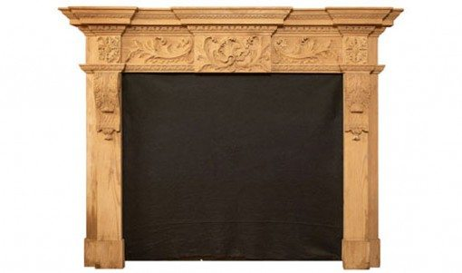 19th Century Pine Fire Surround