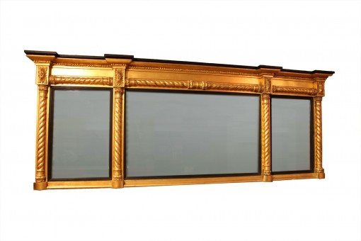 Early 19th Century Regency Gilt and Ebonised Mirror