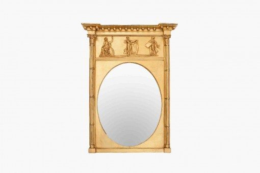 Early 19th Century Regency Carved Giltwood Mirror