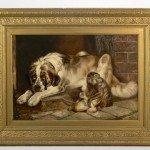 19th Century Painting, 'Animal Scene' - William Hunt