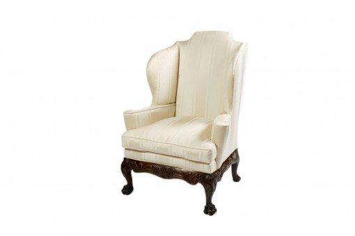 Early 19th Century Irish Mahogany Wing Chair
