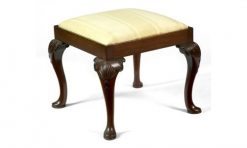 19th Century Mahogany Square Stool