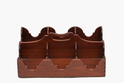 19th Century English Mahogany Bottle Holder