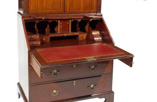 Early 19th Century George III Mahogany Bureau Bookcase