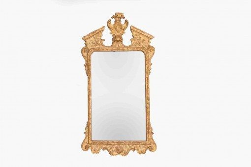 18th Century Irish Carved Giltwood Wall Mirror