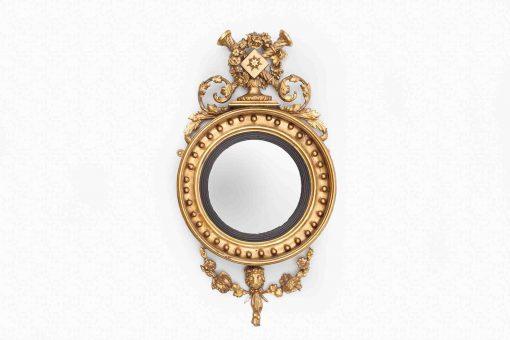Early 19th Century Regency Circular Convex Mirror