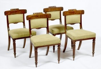 Early 19th Century Set of Ten Regency Mahogany Dining Chairs