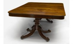 19th Century Regency Irish Mahogany Dining Table