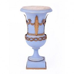 19th Century Wedgewood Blue Decorative Vase of Campana Form