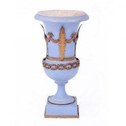 19th Century Wedgewood Blue Decorative Vase of Campana Form