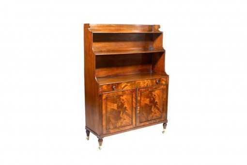 Early 19th Century George III Mahogany Waterfall Bookcase