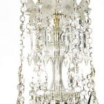 18th Century George III Six Branch Crystal Glass Chandelier
