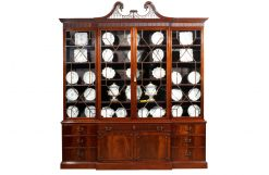 18th Century George III English Breakfront Bookcase