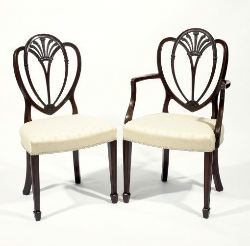 Early 19th Century Set of Eight Hepplewhite Dining Chairs
