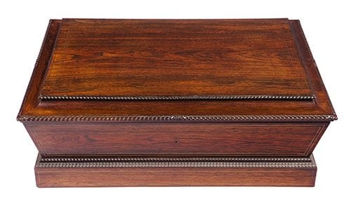 19th Century Georgian Rosewood Sheet Music Box