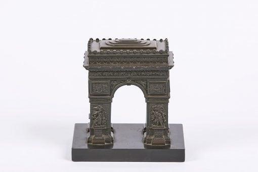 8193 - 19th Century Bronze in the form of the Arc de Triomphe, Paris