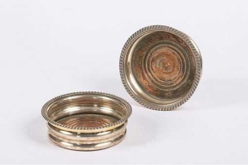 8200 - 19th Century Pair of Sheffield Plate Coasters