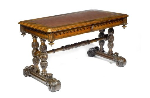 19th Century William IV Walnut Library Table