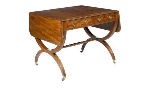 19th Century Regency Mahogany Cross Banded Sofa Table