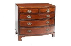 8407 - Early 19th Century Bowfront Chest of Drawers after Thomas Sheraton