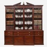 18th Century George III Mahogany Secretaire Bookcase