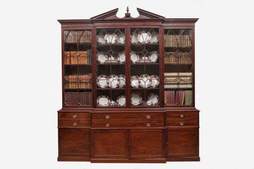 18th Century George III Mahogany Secretaire Bookcase