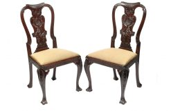 19th Century Set of Six Chippendale Style Dining Chairs